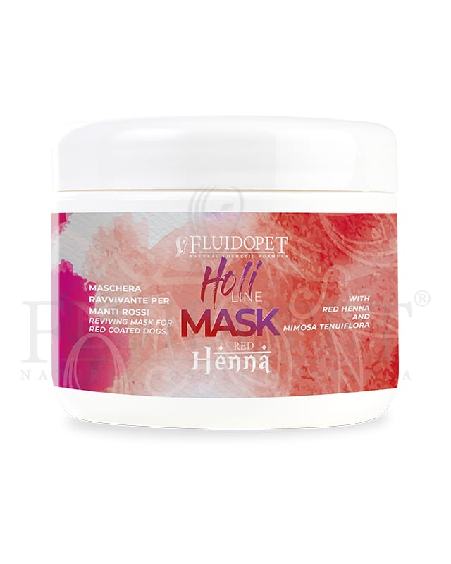 holi mask red